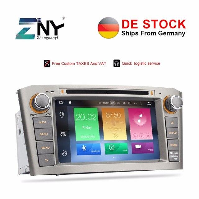 4 GB radio samochodowe Stereo 2 Din dla Toyota Avensis T25 2003 2004 2005 2006 2007 2008 Android 8.0 SAMOCHODOWY ODTWARZACZ DVD odtwarzacz audio nawigacja GPS
