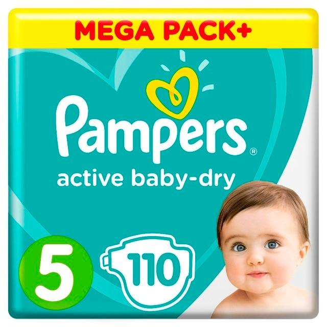 Подгузники Pampers Active Baby-Dry 11-16 кг, 5 размер, 110 шт.