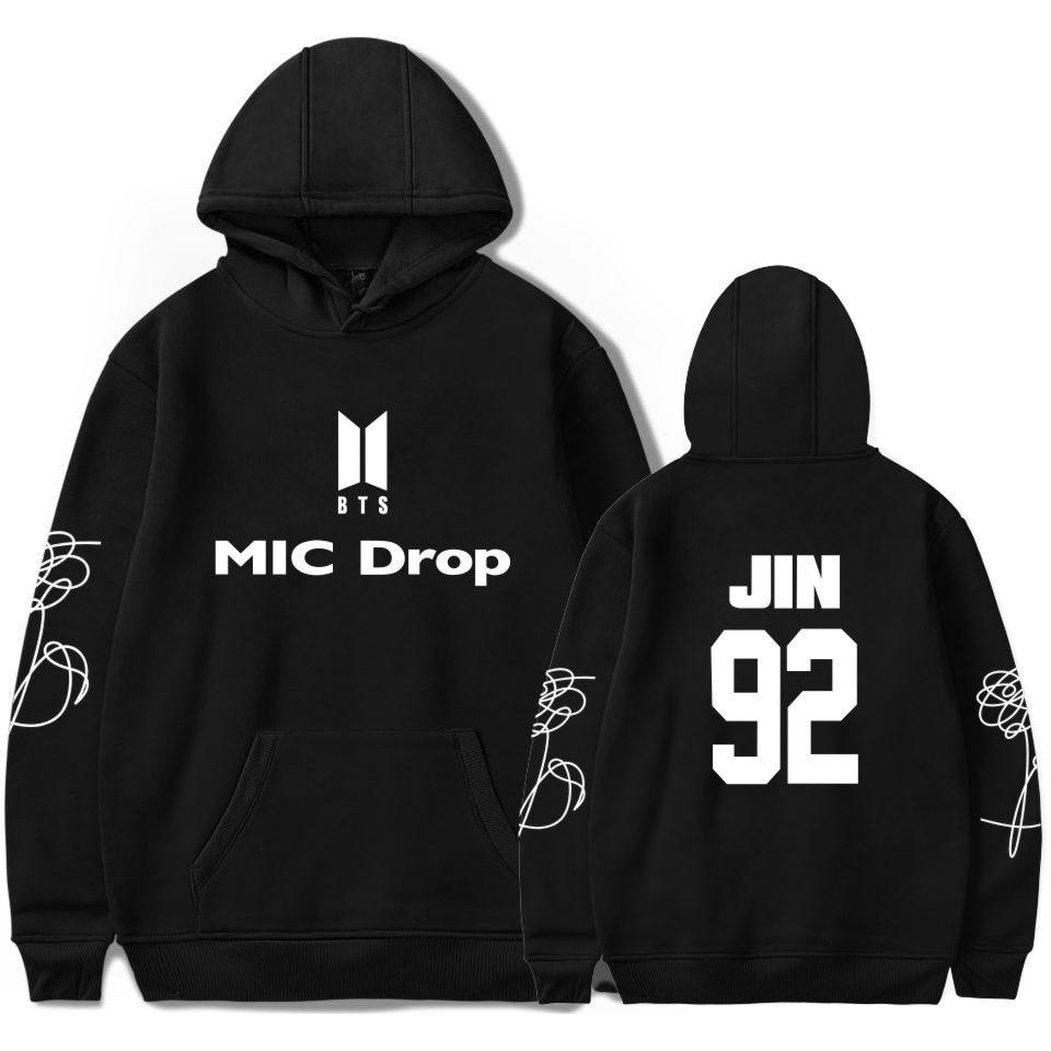 BTS Bangtan Boys Hoodies Member Name New song MIC Drop Print Sweatshirt K-pop Popular Women/men Hoodies