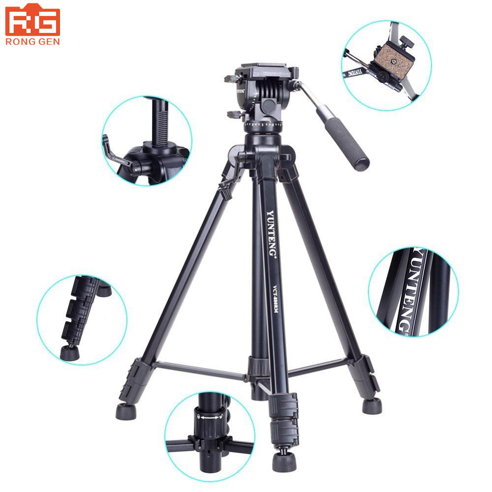 Free shipping Yunteng 880 tripod head kit VCT-880 for Canon Nikon Sony micro film reflex camera tripod camera