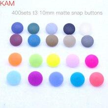20 цветов 400 наборов смешанные матовые KAM брендовые 16 10 мм T3 матовые пластиковые кнопки-кнопки KAM матовые крепежные кнопки