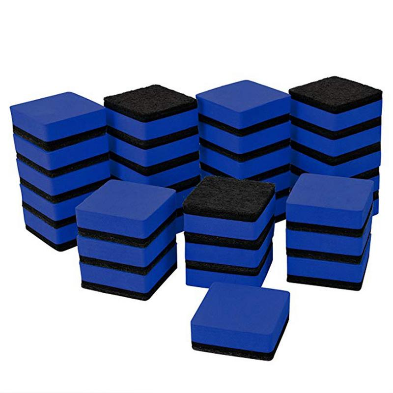 24pcs Blue Magnetic Whiteboard Dry Eraser Chalkboard Cleansers Wiper For Classroom Office School Supplies Office Accessories(China)