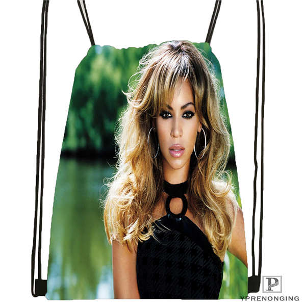 Custom Beyonce @3 Drawstring Backpack Bag For Man Woman Cute Daypack Kids Satchel (Black Back) 31x40cm#20180611-03-142