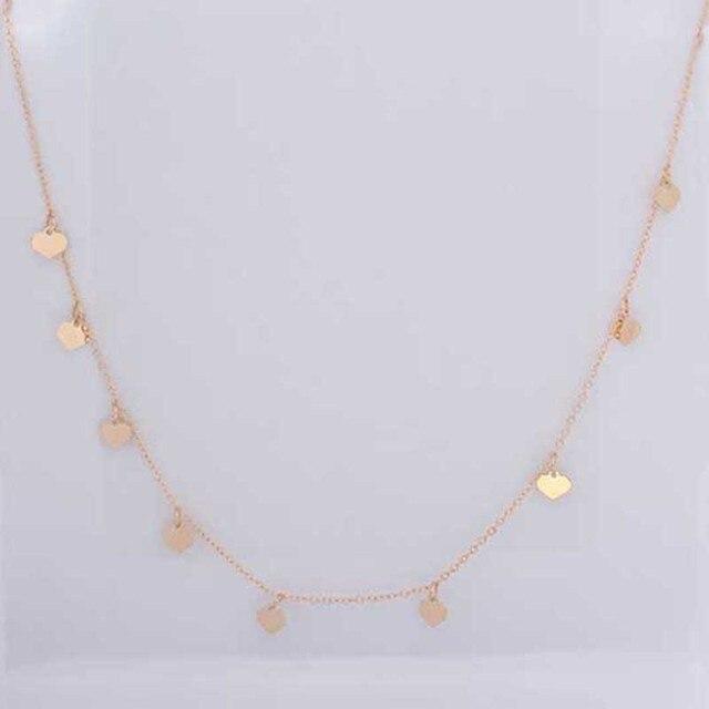 Модное ожерелье и кулон в виде сердца персика для женщин с индивидуальным