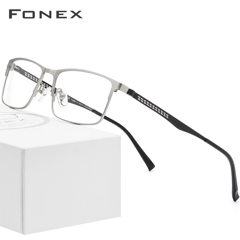 Alloy Optical Glasses Frame Men Square Myopia Prescription Eyeglasses Frames 2019 Male Metal Full Korea Eyewear Spectacles 9287