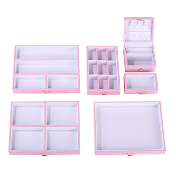 Pink Large Jewelry Box Velvet Organizer Gift Girls Women Necklace Rings Earrings Display Storage Case