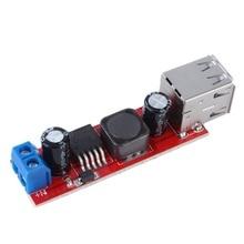 С источником питания от постоянного тока, 6 V-40 V до 5V 3A 150 кГц Частотный двойной USB зарядка DC-DC понижающего преобразователя постоянного тока понижающий модуль