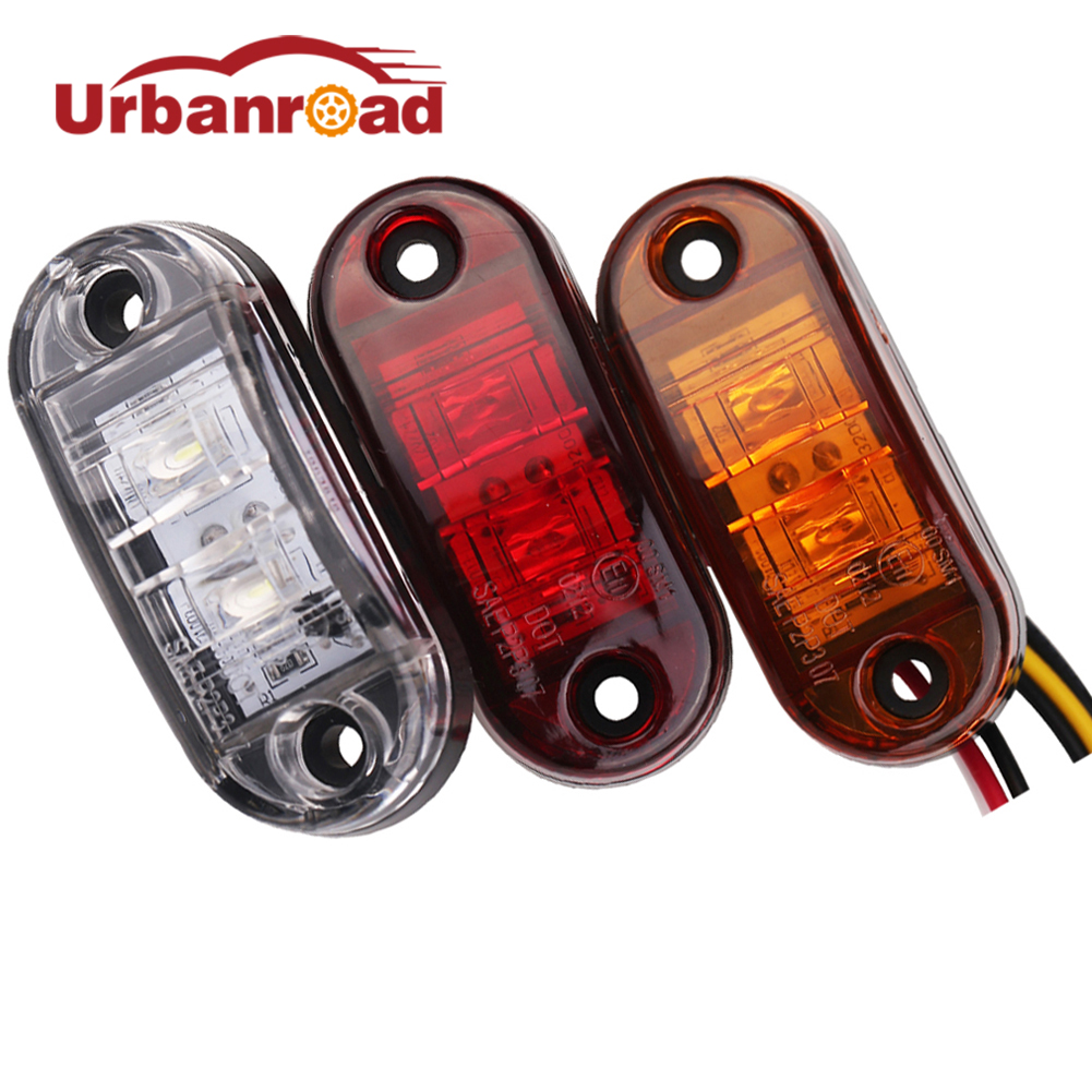 1pc 24v 12v amber led side marker lights for trucks side clearance marker light clearance lamp 12V Red White for Trailer люстра накладная 06 2484 0333 24 gold amber and white crystal n light