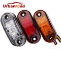 1pc 24v 12v amber led side marker lights for trucks side clearance marker light clearance lamp 12V Red White for Trailer