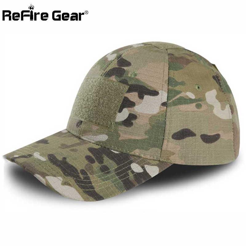 ReFire Gear táctico Snapback camuflaje sombrero US ejército táctico gorra de béisbol hombres Casual Rip-Stop ajustable Paintball casquillos de combate
