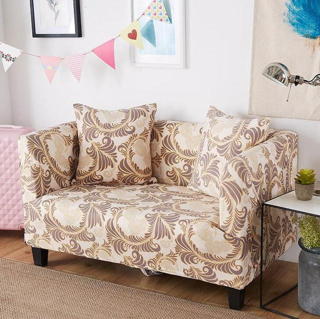 Genial 1pcs Flower Leaf Striped Soft Stretch Sofa Cover Home Decor Spandex  Furniture Covers Decoration Covering Hotel