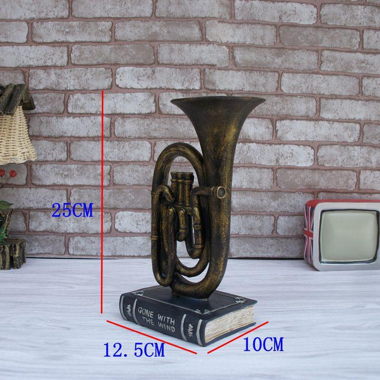 Modelo de saxofón musical Vintage artesanía de resina de escritorio - Decoración del hogar - foto 2