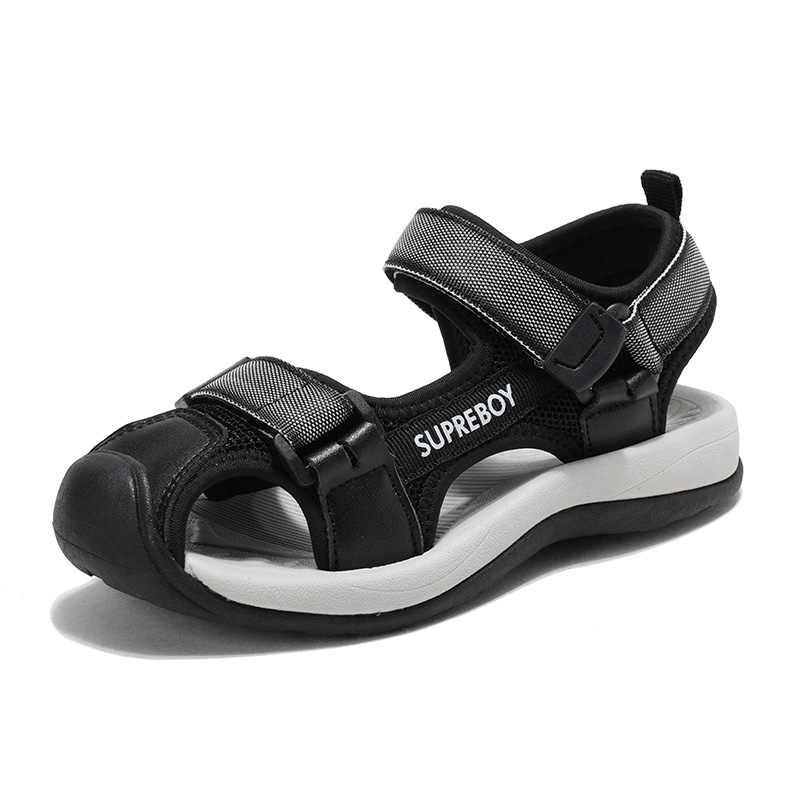 MudiPanda الفتيان الصنادل الصيف الأوسط الأطفال 6 لينة أسفل 7 عدم الانزلاق 8 قليلا الصبي 9 الاطفال الأطفال الشاطئ أحذية 10 سنة