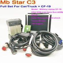 Super mb estrela ferramenta de diagnóstico mais novo mb estrela c3 das novo software hdd c3 com computador portátil cf19 toughbook pronto para trabalhar