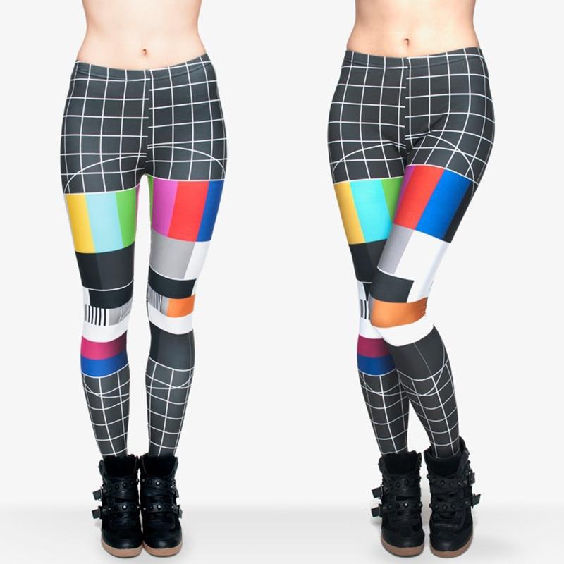 Leggings jeggings Women/Girl Funny 3d Black Color Signal Chequered Printed Leggings