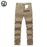 Woodvoice 2017 Frühling Stil Mode Kleidung Solide Herren Dicker Cargo Pants Baumwolle Männer Jogger Plus Größe 30-44