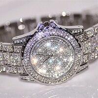 Splendid New Women Rhinestone Watches Lady Dress Women Watch Diamond Luxury Brand Bracelet Wristwatch Hours Crystal