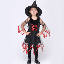 New Baby Girl Costume Set, Cute Witch Dress and Hat Clothing Set Kids Halloween Free Delivery EK129