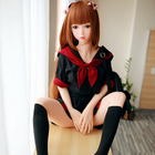 Love Sex Doll 148cm TPE with Metal skeleton Sex Doll Lovely Girl Real Silicone Sex dolls for Men Realistic Vagina and Anus