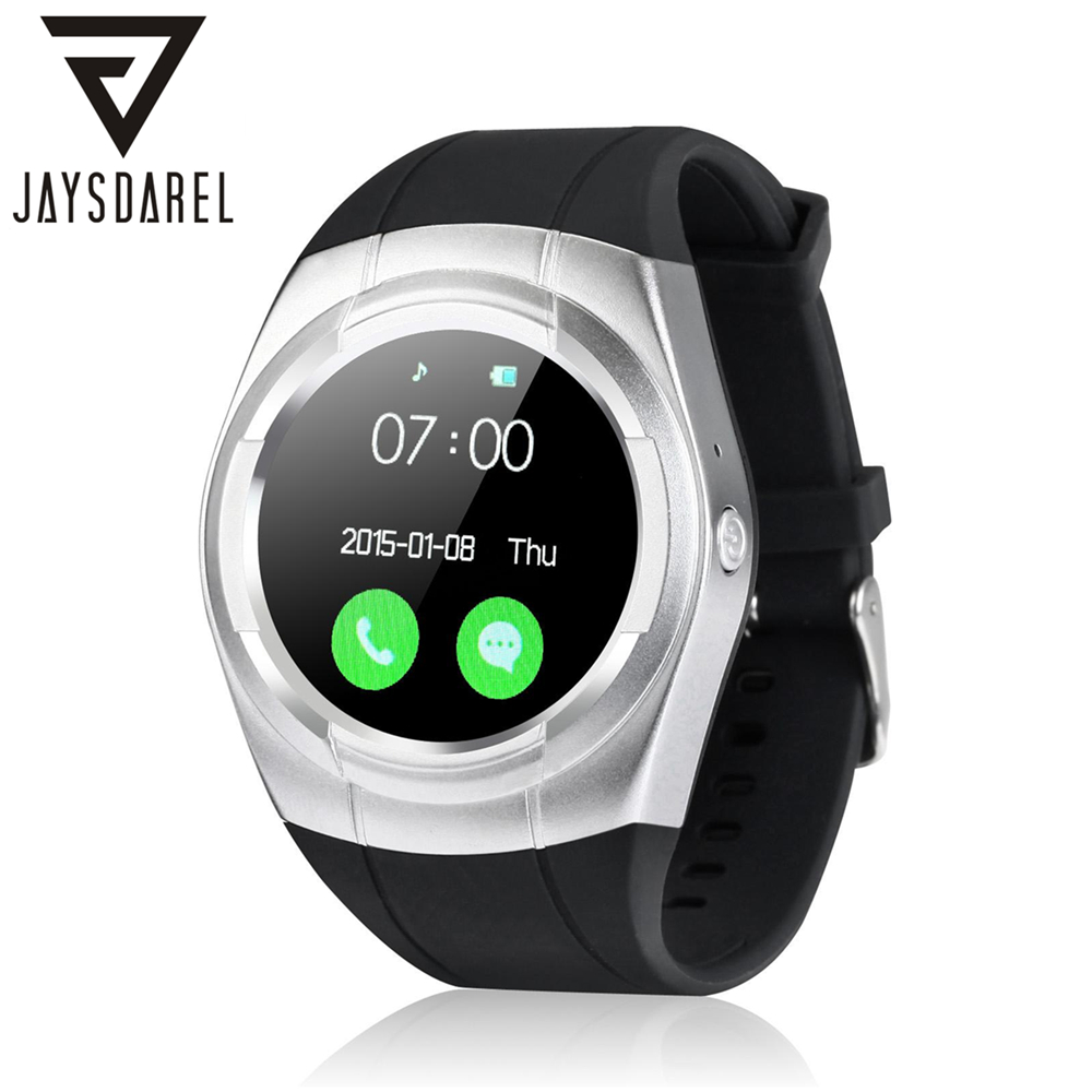 JAYSDAREL T6 Smart Watch Phone Support SIM Card Heart Rate Monitor Touch Screen Sports Bluetooth Fitness Tracker for Android iOS reloj inteligente gt88 bluetooth smart watch waterproof heart rate monitor smartwatch for ios android phone support tf sim card