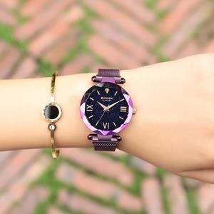 Image 5 - カレン高級女性はロマンチックな星空ダイヤルホットファッションステンレス鋼メッシュ腕時計レディースブレスレット腕時計ギフト