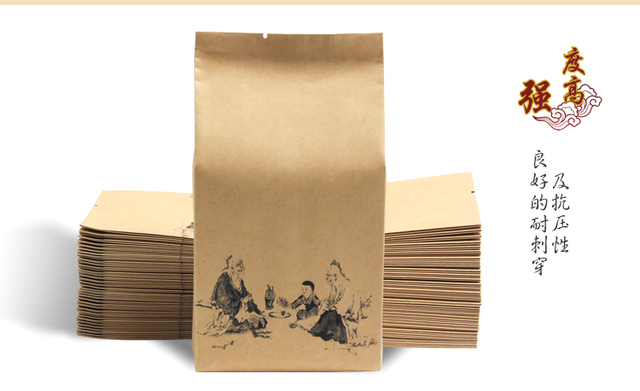 500pcs Lot Kraft Paper Bag For Tea Paper Packaging Tea