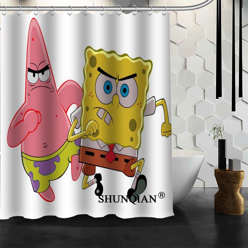 Nice Spongebob Shower Curtain Pictures Inspiration - Bathtub for ...