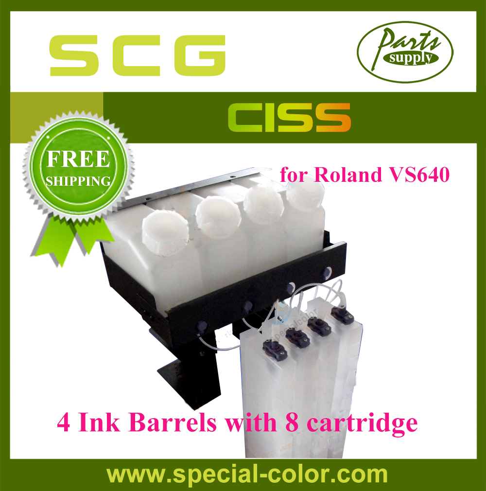 Free Shipping! Roland VS640 CISS Continuous Ink Supply System (4*8) roland xf 640 wiper holder 1000010211