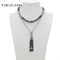 YIKALAISI 2017 Long Multilayer Pearl Necklace Mother Pearl Necklace for Women Accessories Statement Necklace Jewelry For Women