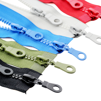 5# 70/80cm plastic resin double sliders ECO colorful zippers for clothes garment