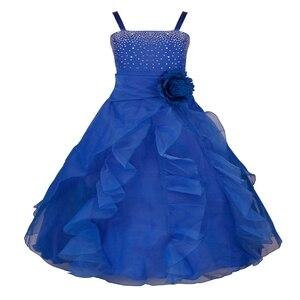 Image 3 - TiaoBug Kids Cô Gái Không Tay Prom Gown Flower Girl Dresses Công Chúa Đám Cưới Rước Bữa Tiệc Tốt Nghiệp Váy với Bowknot 2 14Y