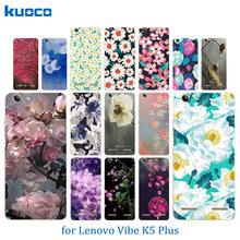 Phone Case for Lenovo Vibe K5 Plus Lemon 3 A6020 Coque Blossom Pattern Soft TPU Silicon Back Cover For Lenovo A 6020 Matte Shell(China)