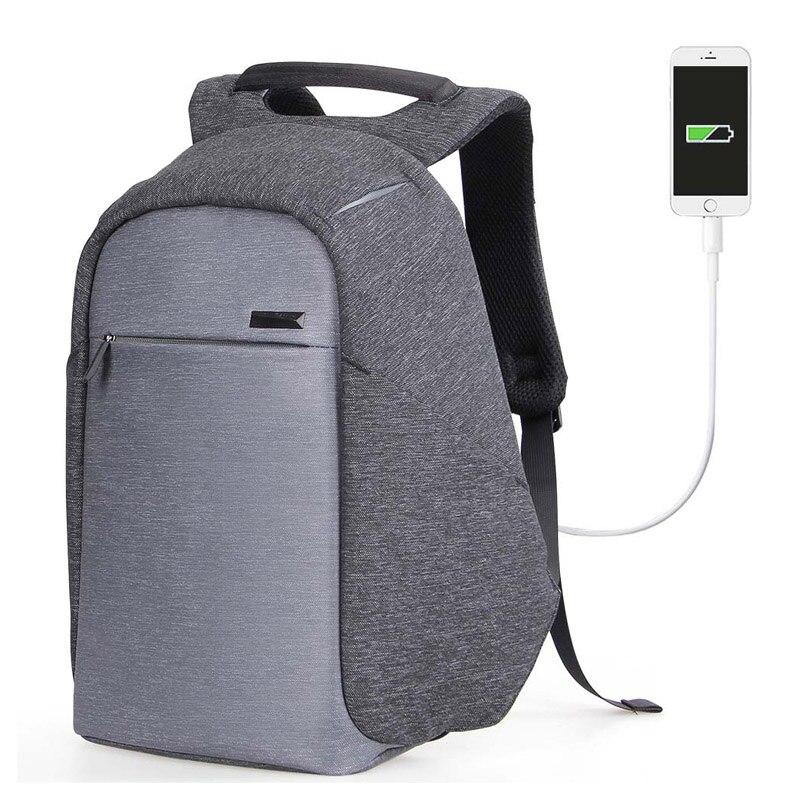 2017Backpack For Men School Bag Multi - Functional Bag Laptop Backpack Usb Charge Bag ozuko multi functional men backpack waterproof usb charge computer backpacks 15inch laptop bag creative student school bags 2018