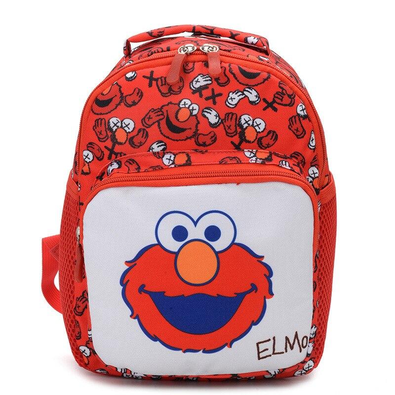 2019 New Fashion Children School Bags For Girls Boy Cartoon Elmo Student School Backpack Kids Bag Mochila Escolar