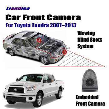 Car Front View Camera For Toyota Tundra 2007-2013 08 09 2010 2011 12 Not Rear View Backup Parking Camera Wide Angle liislee dynamic guidance rear camera for toyota ist urban cruiser 2007 2016 hd 860 pixels parking intelligentized