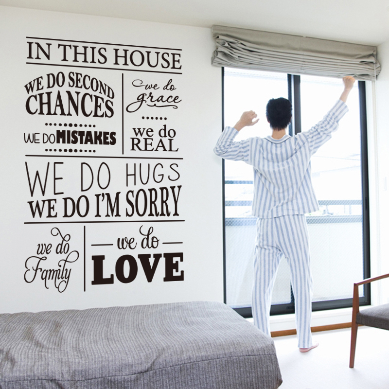 Aliexpress Buy Art New Design House Rules Character Wall Sticker English Version Quote Decoration Vinyl Removable Family Home Decor Decals From