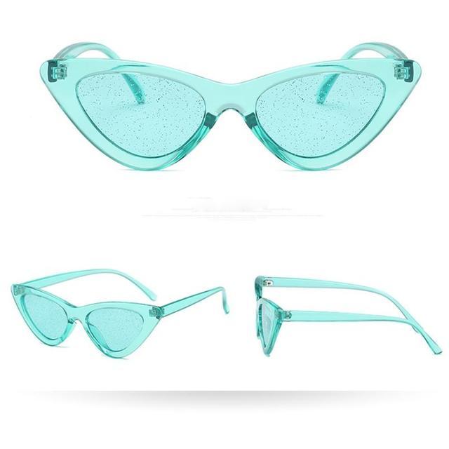 brixini.com - Vintage Cat Lady Sequin Sunglasses