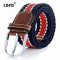 LGFD16012  wholesale  new young man girls rubber polyester  stretch golf elastic belts