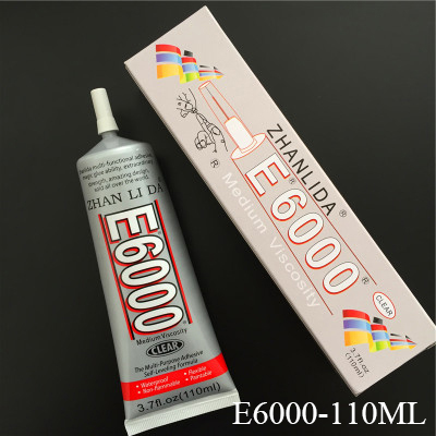 110ml Liquid Transparent E6000 Glue Super Glue Strong Adhesive Rhinestones Jewelry Crystal Glass Craft Phone Screen Fix Glue
