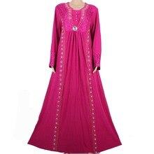 Islamic Clothing for Women Muslim Abaya Dress Beading Design Modest Jilbabs and Abayas Kaftan Dress Purple M771