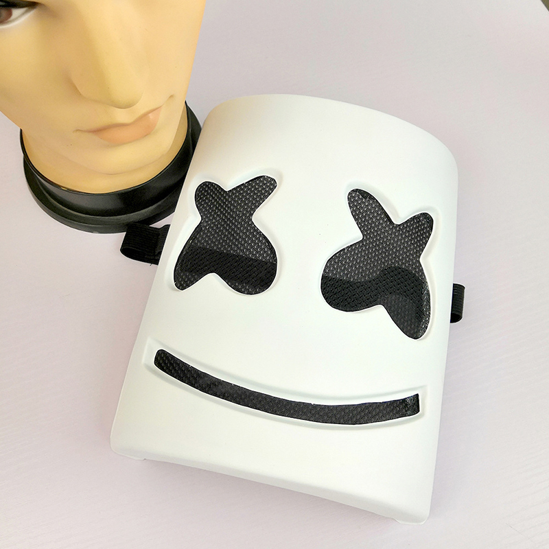 Cosplay Mask Prop DJ Marshmello Mask Halloween Cosplay Accessories DJ Electronic Syllable Party Adult Kids Cos Wholesale