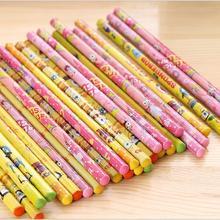 Ограниченное предложение 24 шт. губки ребенка стильная футболка с изображением персонажей видеоигр узор HB карандаш для ребенка материала Детская школьная ручки школьные принадлежности мультфильм анимированные карандаш