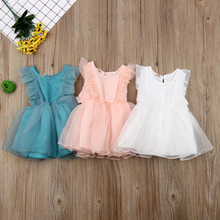 AU Toddler Kids Baby Girl Princess Dress Lace Tutu Bowknot Summer Sundress
