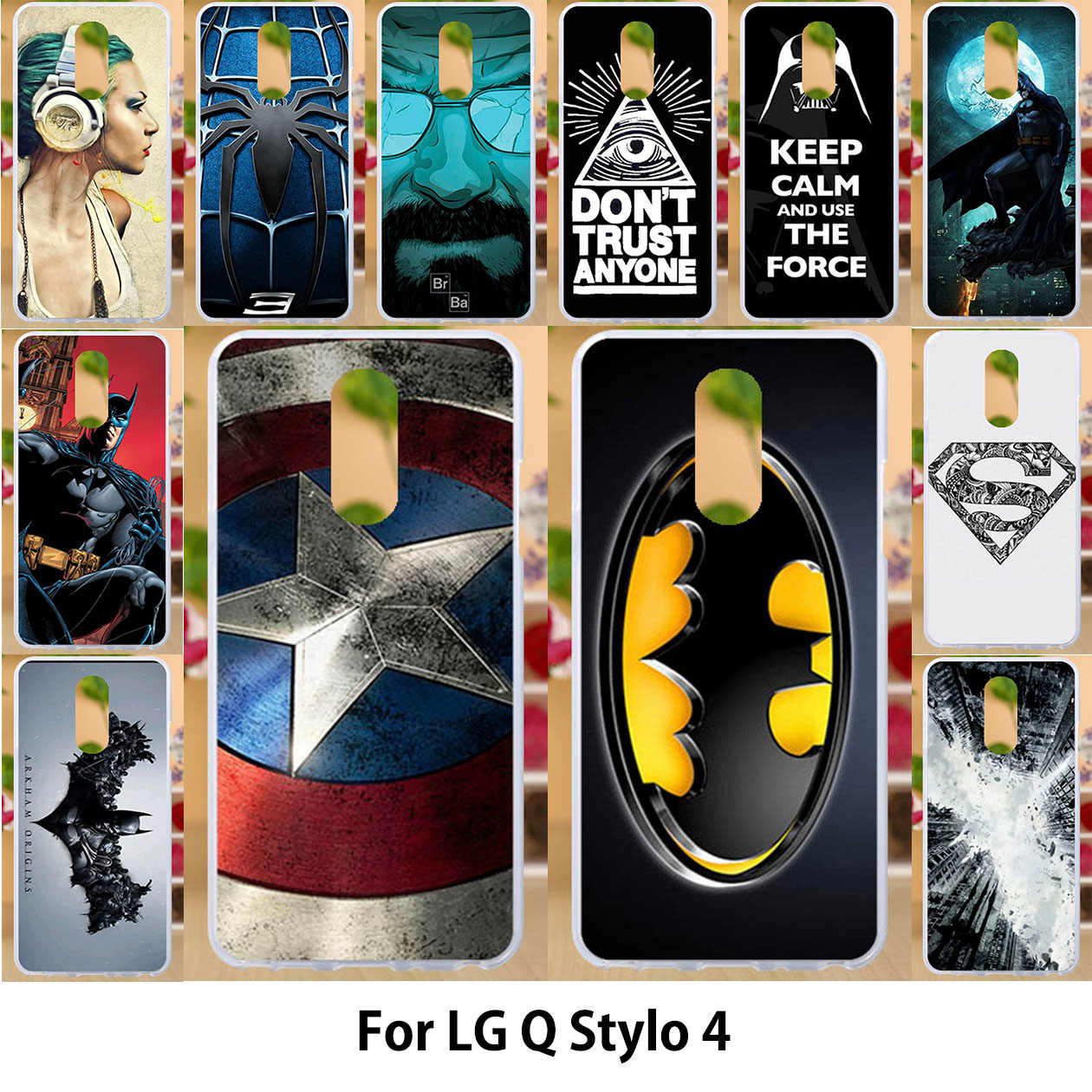low priced c63b1 47f57 Anunob Case For LG Q Stylo 4 Cases LG Q Stylo 4 Q710MS 6.2 inch for Metro  PCS TPU Soft Silicone Cover Painting Dimond Protector