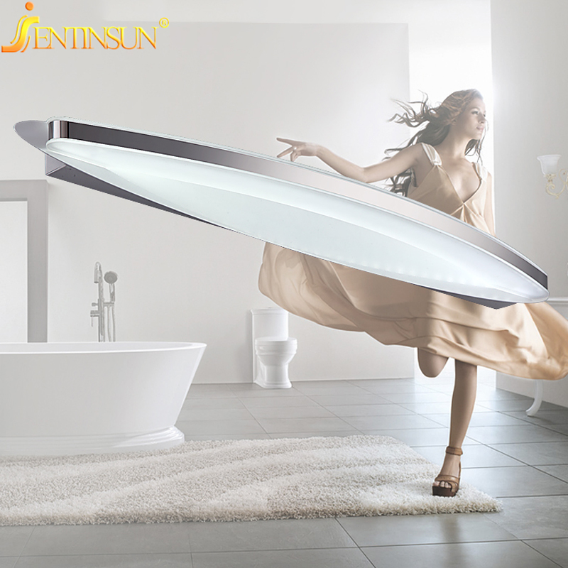 58cm 9W Bathroom LED Mirror Light Mini Style White Modern Wall Lamp lampada de led Lights Indoor Acrylic Home Lighting Fixtures luxury modern white acrylic 12w led bathroom wall lamp mirror front fashion wall light showroom washroom wall lamp
