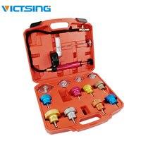 VicTsing 14 PCS Kit Verificador de Pressão Do Radiador Universal Detector de Teste Do Sistema De Arrefecimento Ferramentas Conjunto com Caso