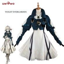 UWOWO фиолетовый Evergarden Косплей Аниме фиолетовый Evergarden костюм женский японский аниме костюм платье