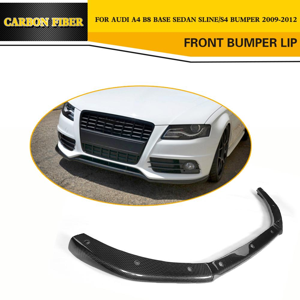 Car style auto car carbon fiber front lip spoiler for audi s4 sline sedan 4
