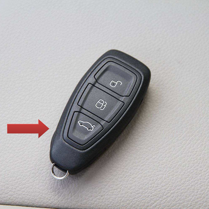 Hot Sale Rubber Key Cover Remote Bag Fit For Ford Focus 3 Mk3 St Rs Ecosport Kuga Escape New Fiesta 3 Buttons Remote Control In Key Case For Car