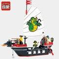 Просветите 301 Игрушка Строительные Блоки из древних Барбара супер лодка командных действий Игрушки Рождественский Подарок Пираты
